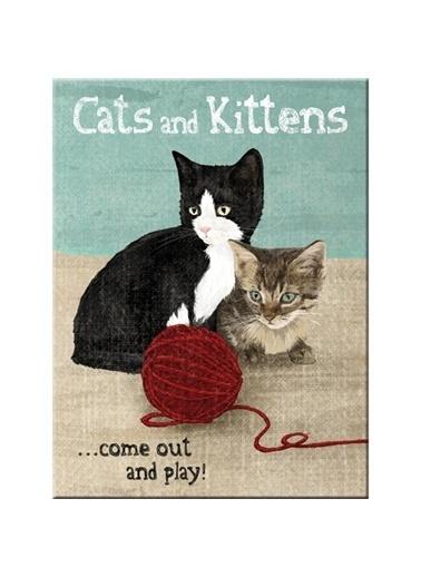 Nostalgic Art Cats&Kittens Magnet 6x8 cm Renkli